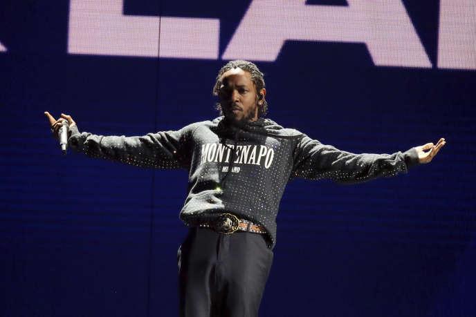 Kendrick Lamar en concert à Londres, le 21 février 2018.