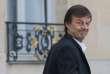 Nicolas Hulot quitte le palais de l'Elysée, après le conseil des ministres, le 21février.