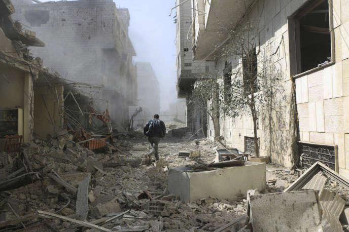 Dans la Ghouta orientale, le 22 février.