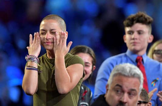 Emma Gonzalez,18 ans, dont la famille est d'origine cubaine, a initié avec ses camarades le projet d'un grand rassemblement à Washington le 24 mars, intitulé «Marche pour nos vies ».