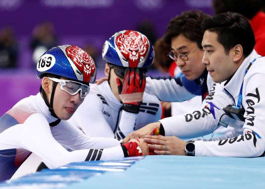 Lim Hyo-jun et Hwang Dae-heon sont déçus par leur deuxième et troisième place.