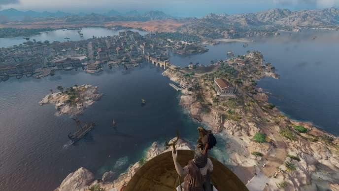 Une vue imprenable sur Alexandrie depuis le phare, qu'on peut escalader librement.