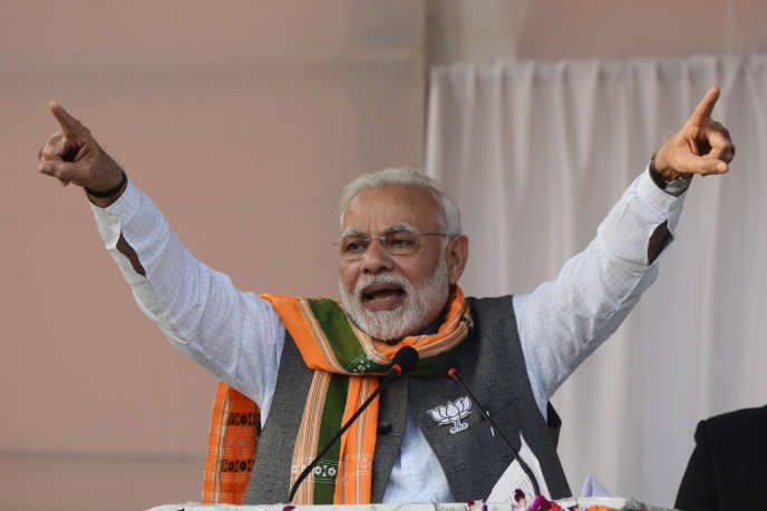 Narendra Modi, le premier ministre indien, le 15 février.
