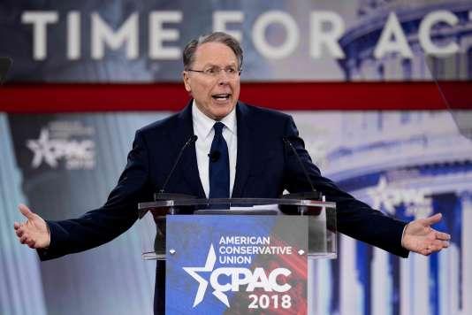 Wayne LaPierre, vice-président de la NRA, lors de la Conservative Political Action Conference d'Oxen Hill, dans le Maryland, le 22 février.