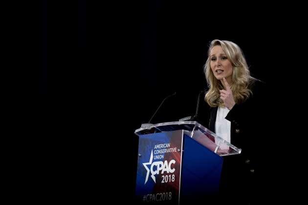 Marion Maréchal, lors d'une réunion des conservateurs américains, le 22 février, dans le Maryland.