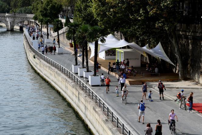 La voie Georges-Pompidou, le 11septembre 2016, fermée à la circulation.