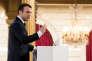 Discours d'Emmanuel Macron à l'Elysée, le 22 février.