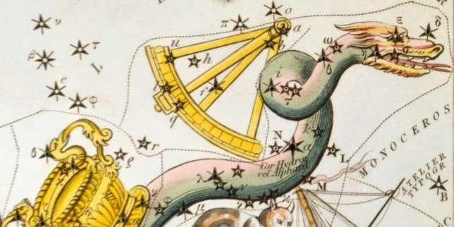 La constellation de l'Hydre dans un ancien atlas céleste.