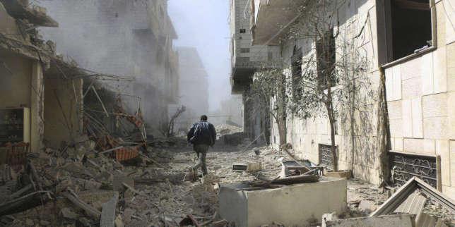 Dans la Ghouta orientale, jeudi 22 février.