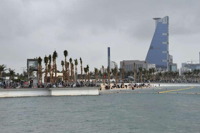 La ville portuaire de Djedda en Arabie saoudite est plus « libérale » que la capitale Riyad (en photo : le front de mer et le port de Djedda en février 2018).
