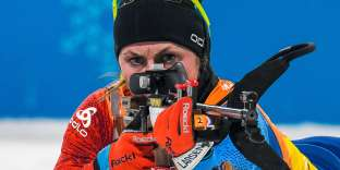 Justine Braisaz a eu recours à ses trois fautes sur le tir couché, disputé par grand vent.