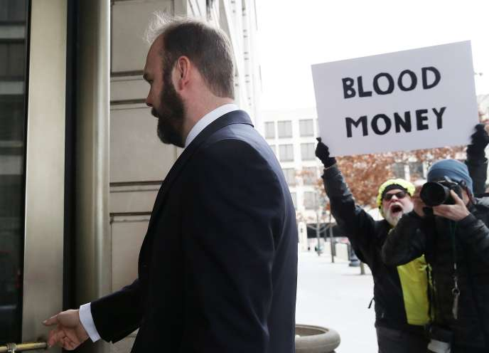 Richard Gates arrive à la cour fédérale pour son audition le 23 février 2018.