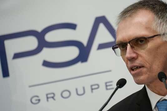 Le président du directoire de PSA, Carlos Tavares, le 23 février à Mulhouse.