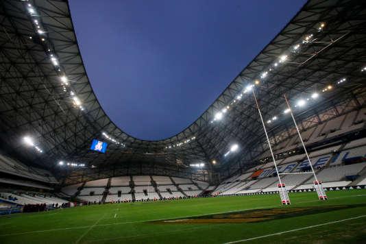 Le stade Vélodrome, le 23 février 2018, avant France-Italie.