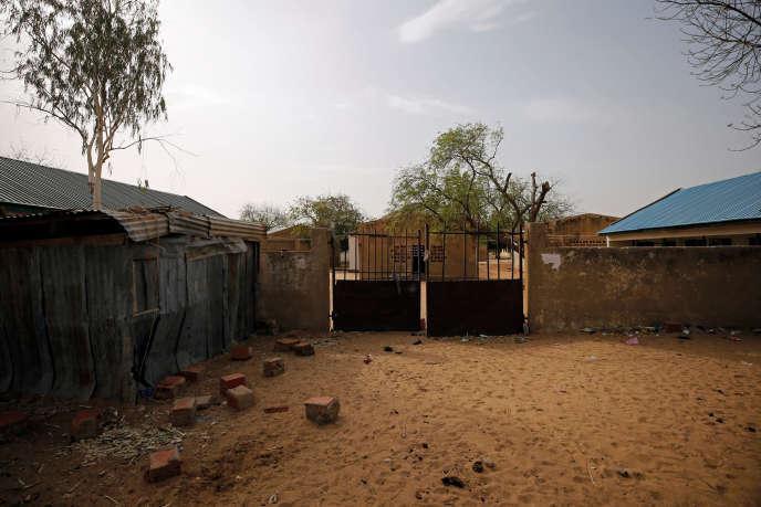 L'école de Dapchi où ont été enlevées les élèves.