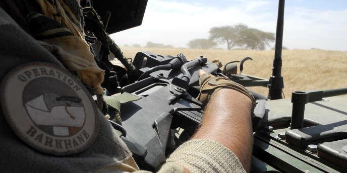 Un soldat de l'opération française« Barkhane», au Mali, le 1ernovembre 2017.