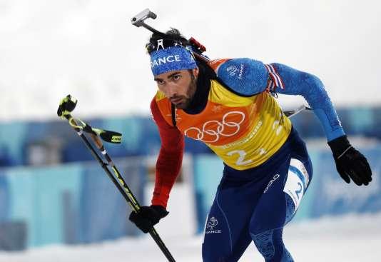 Martin Fourcade lors des JO d'hiver le 23 février.
