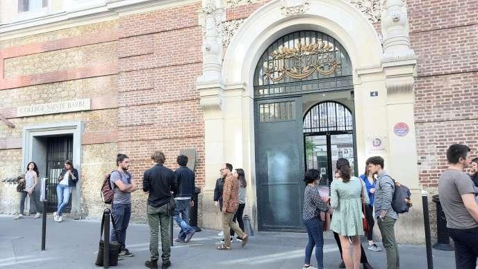 Bibliothèque Saint-Barbe, à Paris, en 2017.