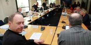 Réunion des partenaires sociaux sur l'assurance chômage, au siège du Medefà Paris, le 22 février.