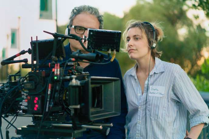 Greta Gerwig sur le tournage de «Lady Bird».