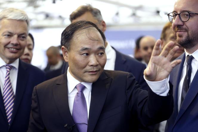 Le patron du constructeur automobile chinois Geely, Li Shufu, à Bruxelles, le 2 juin 2017.