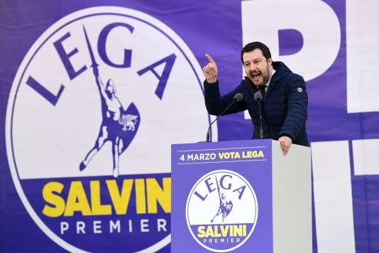 Matteo Salvini, le 24 février, à Milan.