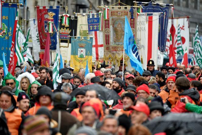 Marche antifasciste le 24 février à Rome.