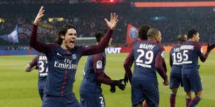 Edinson Cavani a inscrit le troisième but du PSG dans la large victoire face à l'OM.