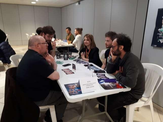 L'équipe de« Secret Societies» est venue à quatre pour présenter son projet.