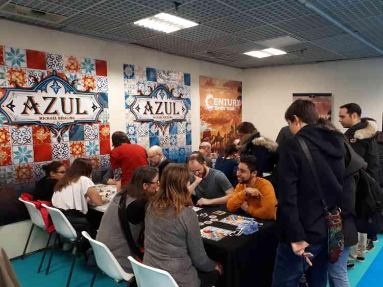 Le stand d'Azul, qui a remporté cette année l'As d'Or, le grand prix du Festival.