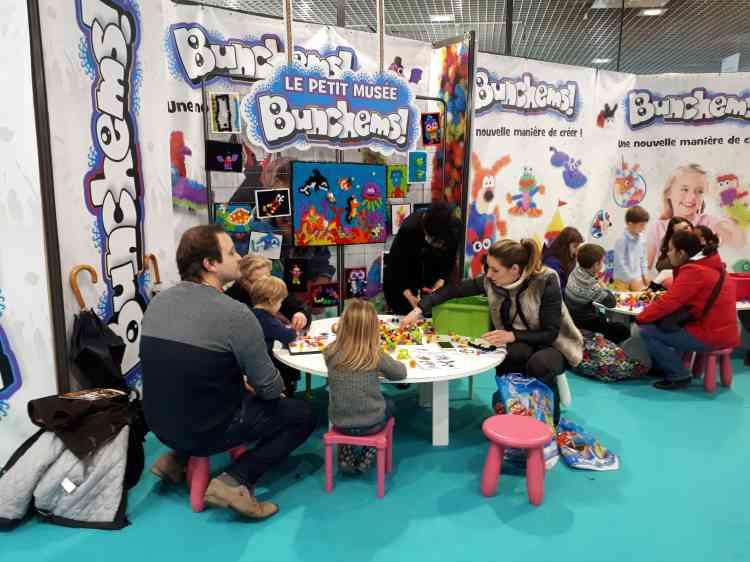 Divisé en plusieurs zones, le Palais des festivals de Cannes accueillait aussi une importante section consacrée aux jeux pour enfants.