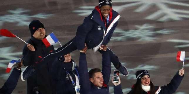 La délégation française lors de la cérémonie de clôture.