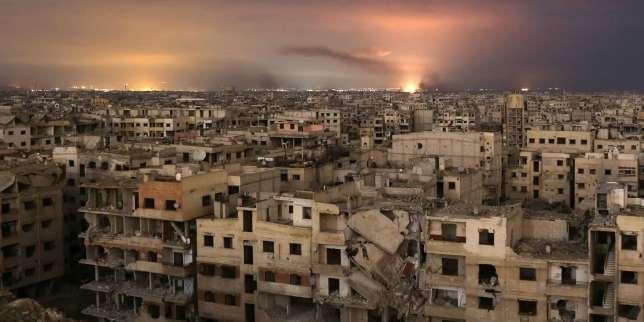 Dans la Ghouta orientale, à proximité de Damas, le 23 février.