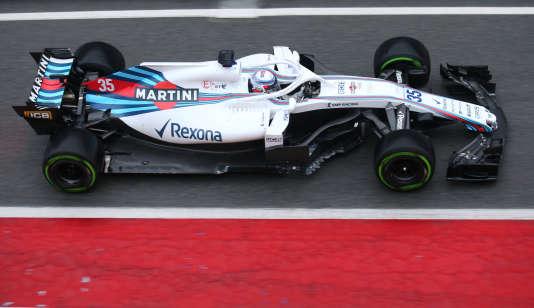 Débuts du jeune Russe Sergey Sirotkin (22 ans) au volant de la FW-41 Williams, le 26 février sur le circuit de Catalogne.