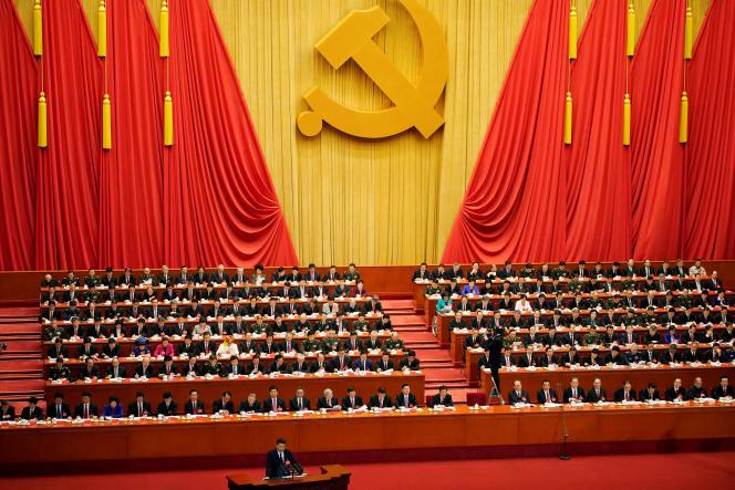 Discours du président chinois Xi Jinping devant le 19e congrès du PCC, à Pékin, le 18 octobre 2017.