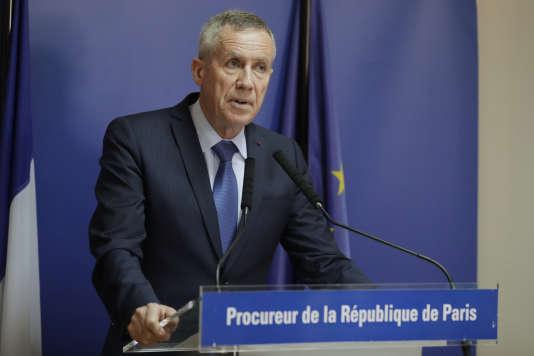 Conférence de presse de Francois Molins, procureur de la République de Paris, en juin 2017.