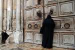 Le Saint-Sépulcre fermé au public, à Jérusalem, le 26 février 2018.