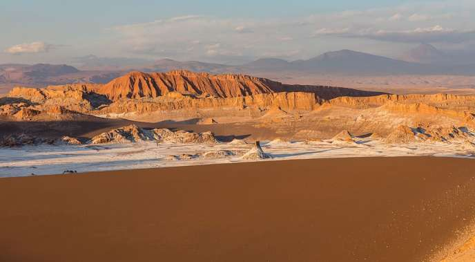 Vue du désert d'Atacama.