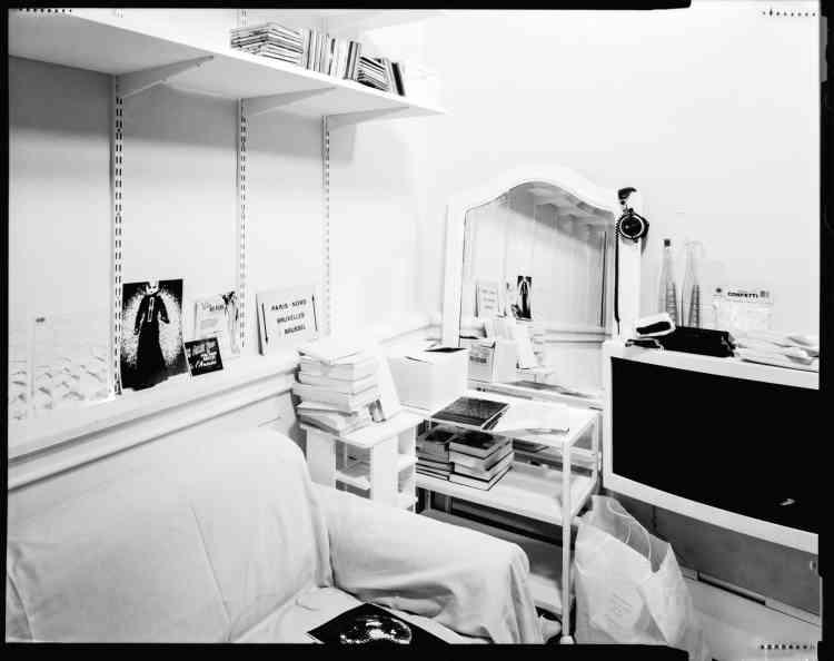 Exposition«Margiela / Galliera 1989 - 2009»,reconstitution d'une chambre de fan de 1994.