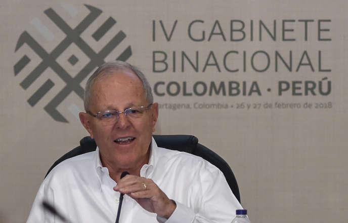 Pedro Pablo Kuczynski, à Carthagène (Colombie), le 27 février.