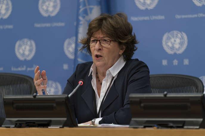 Louise Arbour, représentante spéciale de l'ONU pour les migrations internationales.