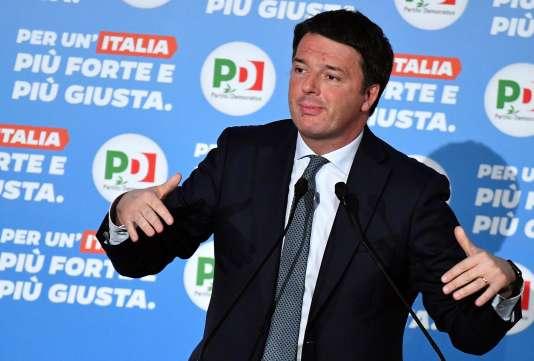 L'ancien premier ministre Matteo Renzi, le 27 février, à Rome.