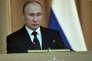 Russian President Vladimir Putin speaks during his meeting with the Board of the Procurator General's Office in Moscow, Thursday, Feb. 15, 2018. (Alexei Nikolsky/Sputnik Kremlin/Pool Photo via AP)