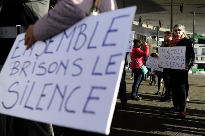 Manifestation contre les violences sexuelles et le harcèlement, à Marseille, le 29 octobre 2017.