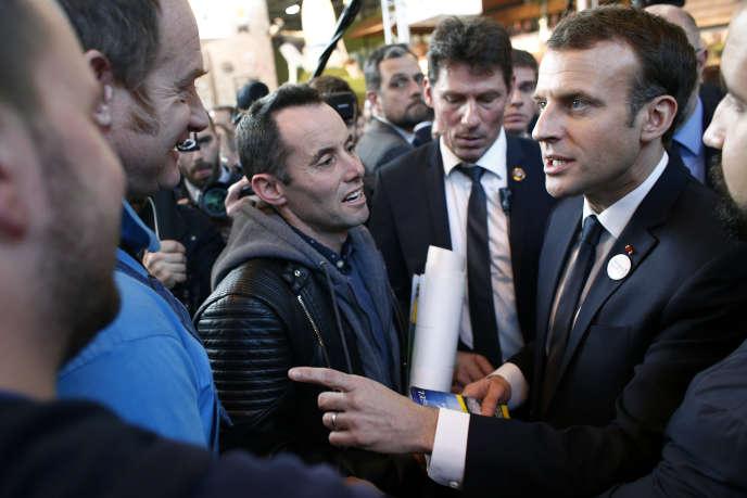 Emmanuel Macron, au Salon de l'agriculture, samedi 24 février.