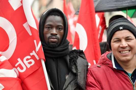 Lors d'une manifestation antifasciste, le 24février 2018, à Rome.