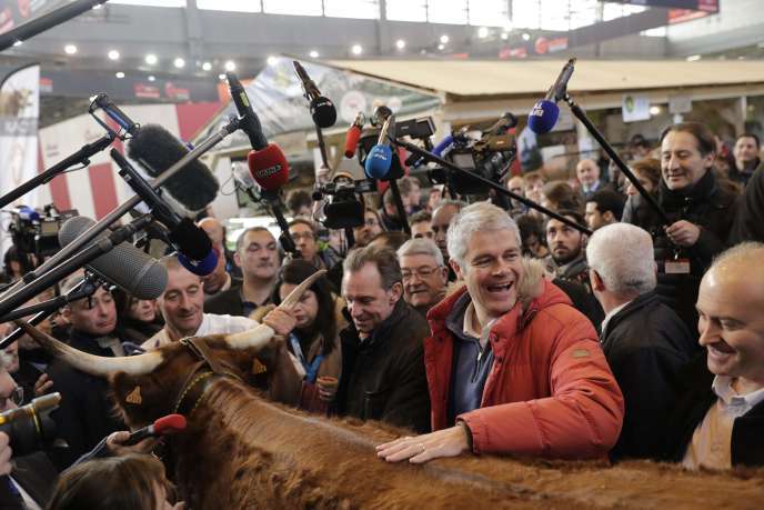 Laurent Wauquiez, au Salon de l'agriculture, le 27 février, à Paris.
