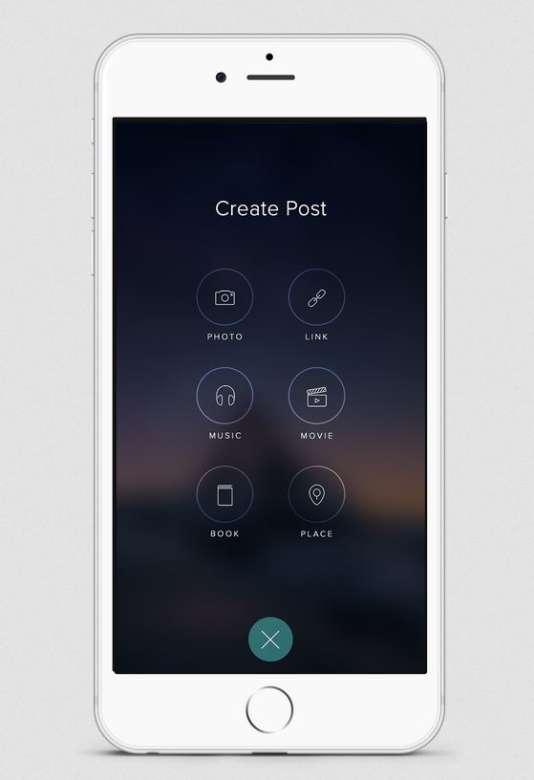 L'interface permettant de publier des contenus sur le fil d'actualité.