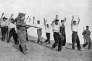Prisonniers des soldats franquistes, en Espagne, 1936.