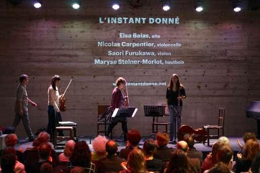 L'ensemble L'Instant donné en concert à La Marbrerie de Montreuil.